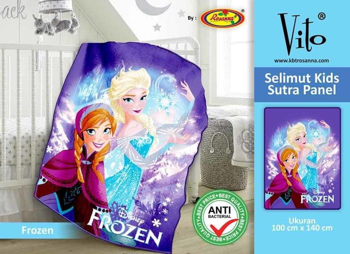 SELIMUT VITO KIDS - Grosir Selimut Vito Kids Frozen Blue Ice