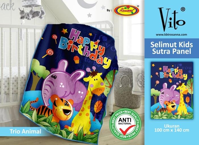 SELIMUT VITO KIDS - Grosir Selimut Vito Kids Trio Animal