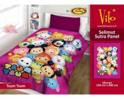 Grosir Selimut Vito Sutra Panel - Grosir Selimut Vito Sutra Motif  Tsum Tsum