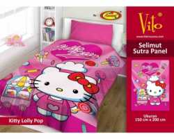 Grosir Selimut Vito Sutra Panel - Grosir Selimut Vito Sutra Motif Kitty Lolly Pop