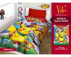 Grosir Selimut Vito Sutra Panel - Grosir Selimut Vito Sutra Motif Pokemon