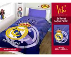 Grosir Selimut Vito Sutra Panel - Grosir Selimut Vito Sutra Motif Real Madrid