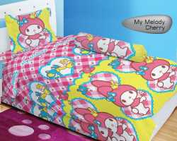 Grosir Sprei LADY ROSE SINGLE - Sprei Dan Bed Cover Lady Rose Single My Melody Cherry